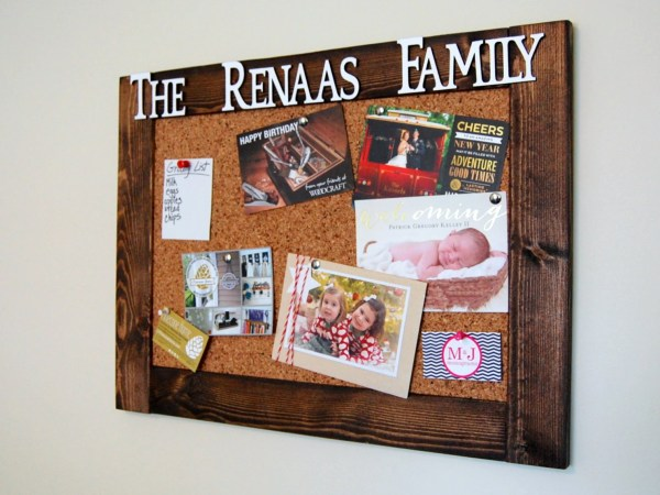 Rustic Personalized Cork Bulletin Board 18 X 24