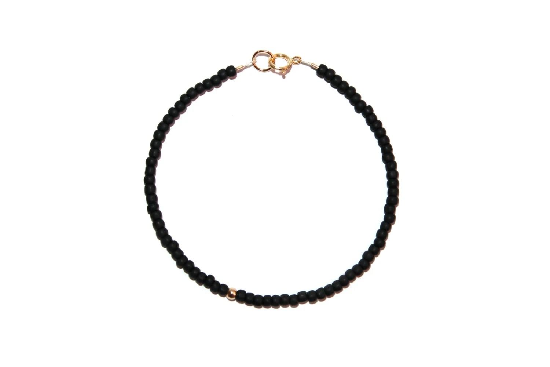 Items similar to Simple Matte Black & 14k Gold Filled