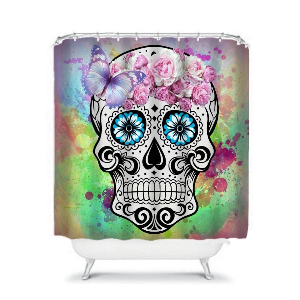 Sugar Skull Shower Curtain Sweet Molly