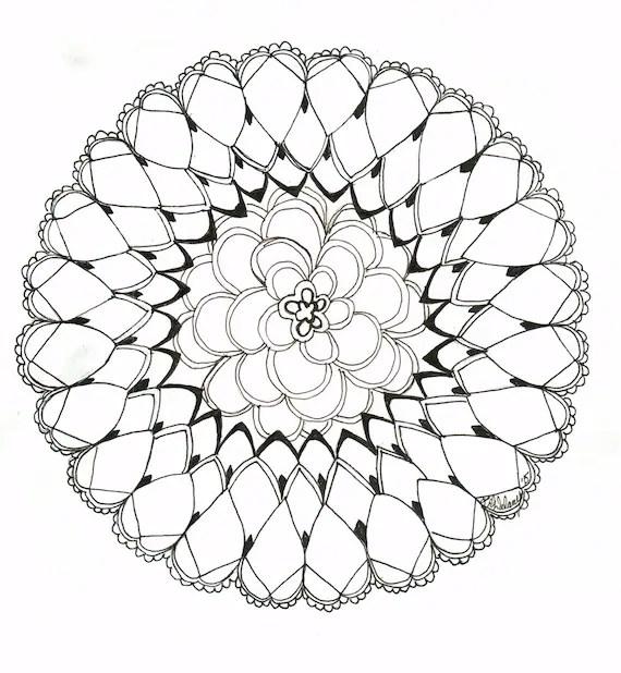 original honey comb mandala coloring page
