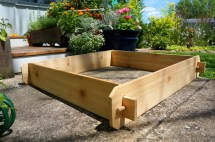3x3 Cedar Flower Bed Planter Vegetable Garden Box