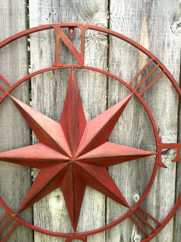 Nautical Wall Art Metal Compass