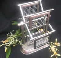 Rotating Earring Holder Spinning Jewelry Organizer Upcycled