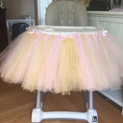 Pink High Chairs Acrylic Folding And Gold Highchair Tutu Chair