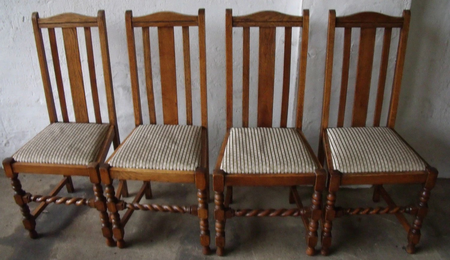 solid oak pressed back chairs wing chair slipcover pattern set of four 4 dining kitchen with