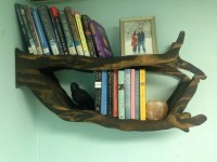 Handmade Tree Branch Bookshelf for Bedroom Living Room or