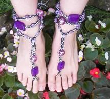 Purple Hemp Barefoot Sandals