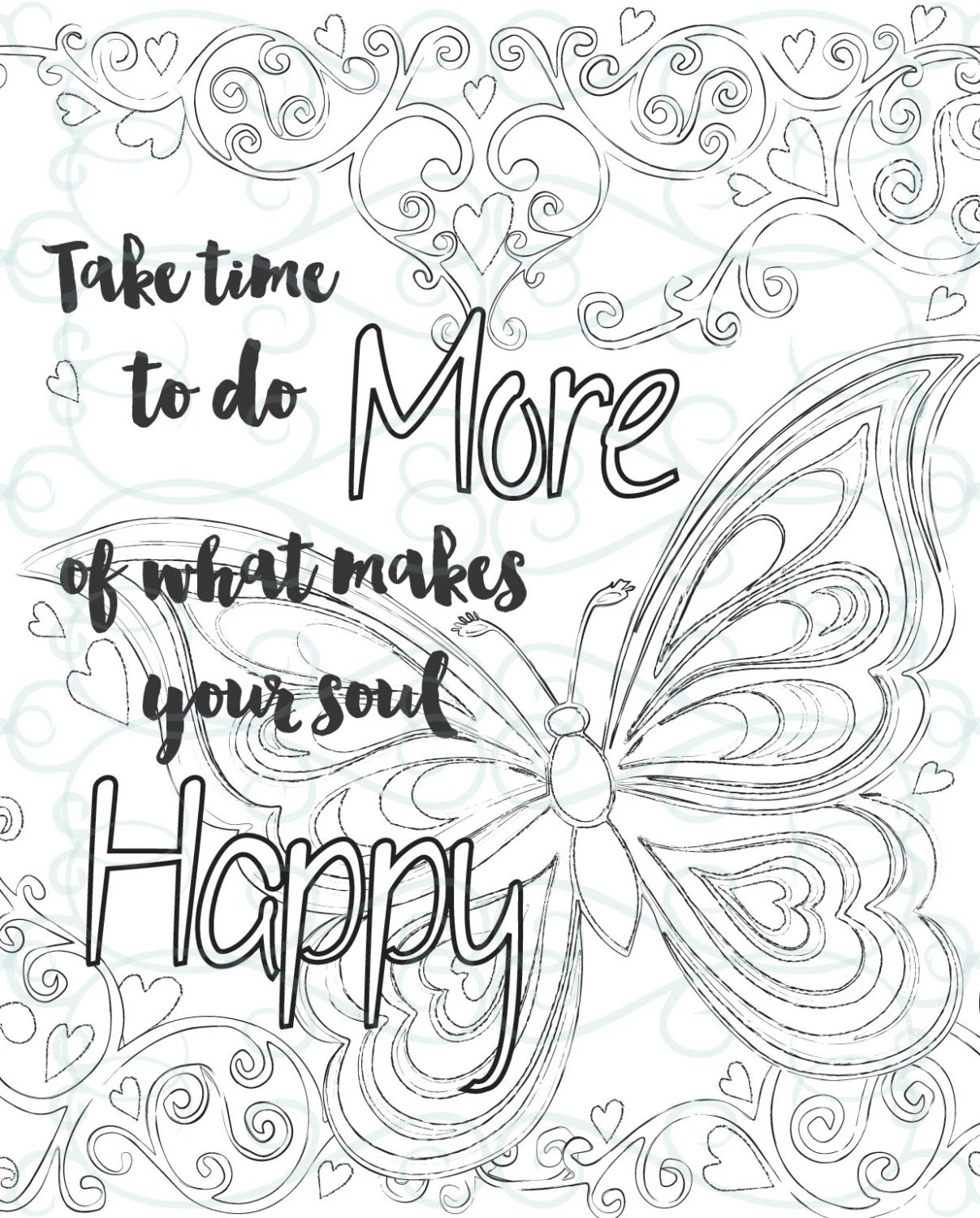 Adult Inspirational Coloring Page Printable 01 Make Your Soul