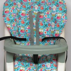 Graco High Chair Cover Replacement Threaded Glides Pad Girly Owls