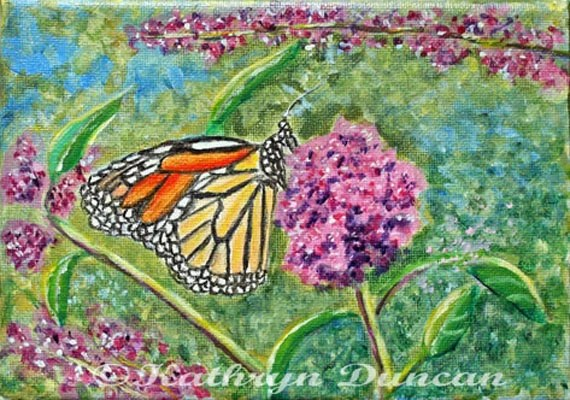 Items Similar To Monarch Butterfly & Flower
