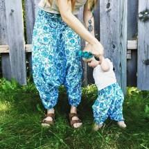 6-9 Months Organic Baby Harem Pants Unisex