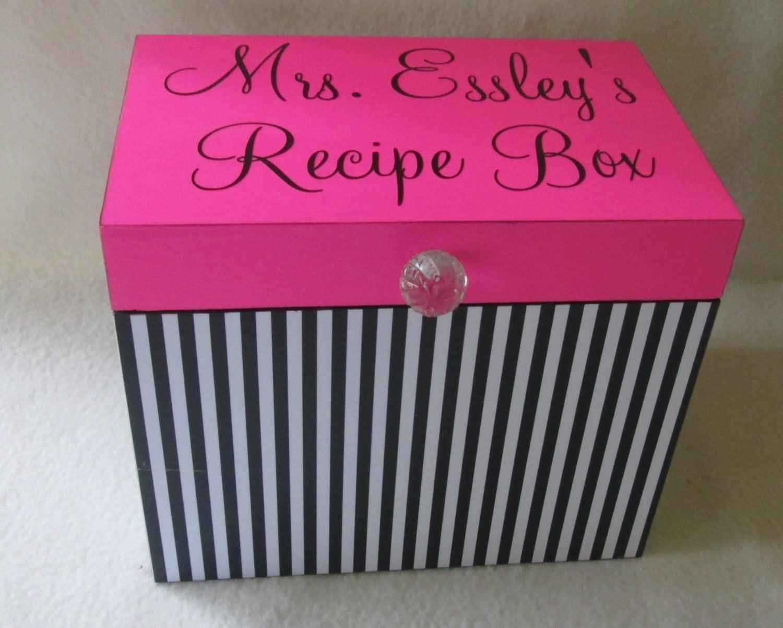 recipe box 5x7