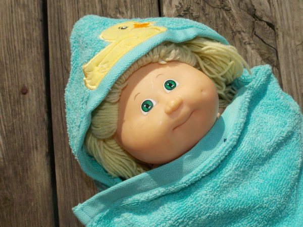 Baby Doll Hooded Towel Personalized Birthday Crafting4caleb