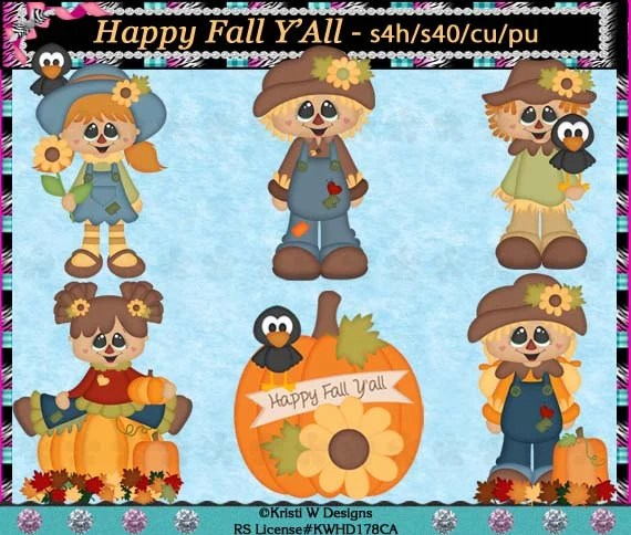 happy fall ' scarecrow kids