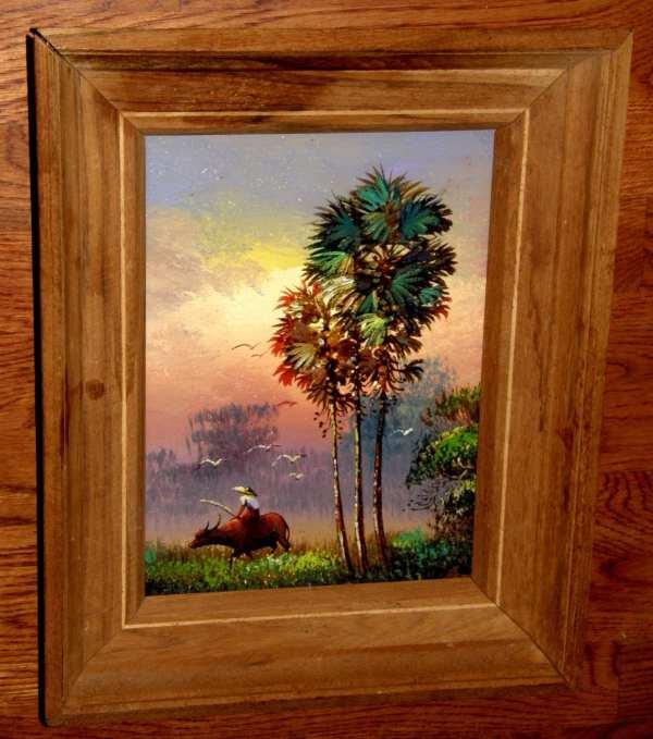 Vietnamese Original Fine Art Realism Oil Canvas Painting