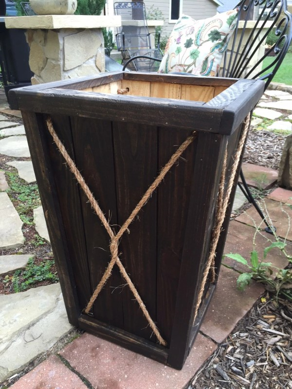 Tall Wood Planter Entryway Wedding