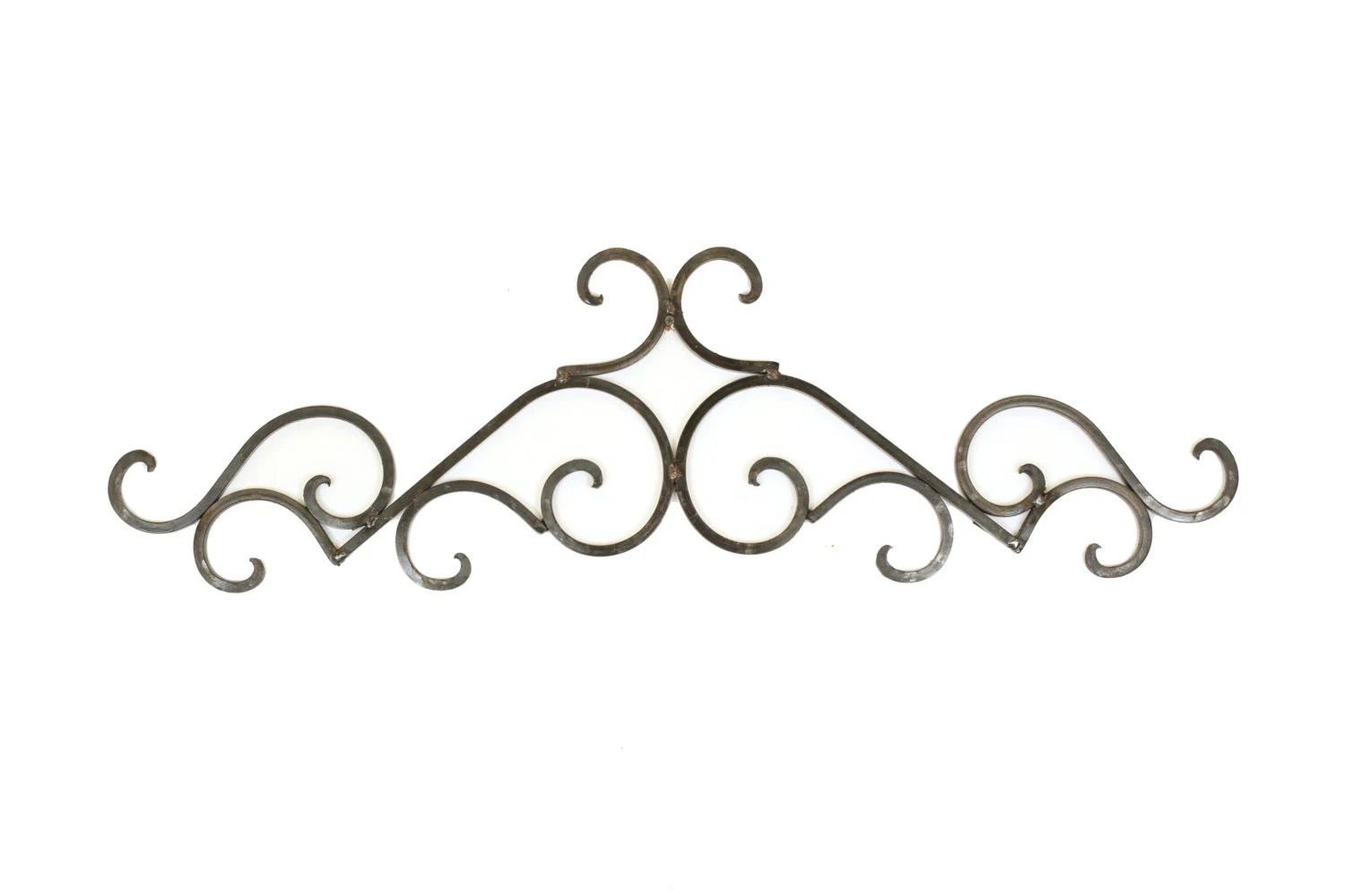 Taos Iron Door Topper-Architectural Wall Garden-38x11-Wrought