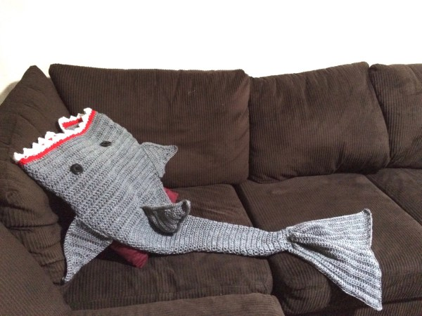 Shark Snuggle Blanket Crochet Pattern Free - Year of Clean Water