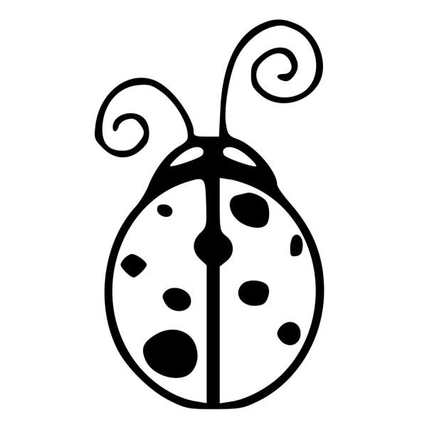 adorable ladybug die-cut decal