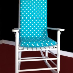 Rocking Chair Cushion Covers Best For Pc Gaming Reddit Cover Turquoise White Polka Dot By