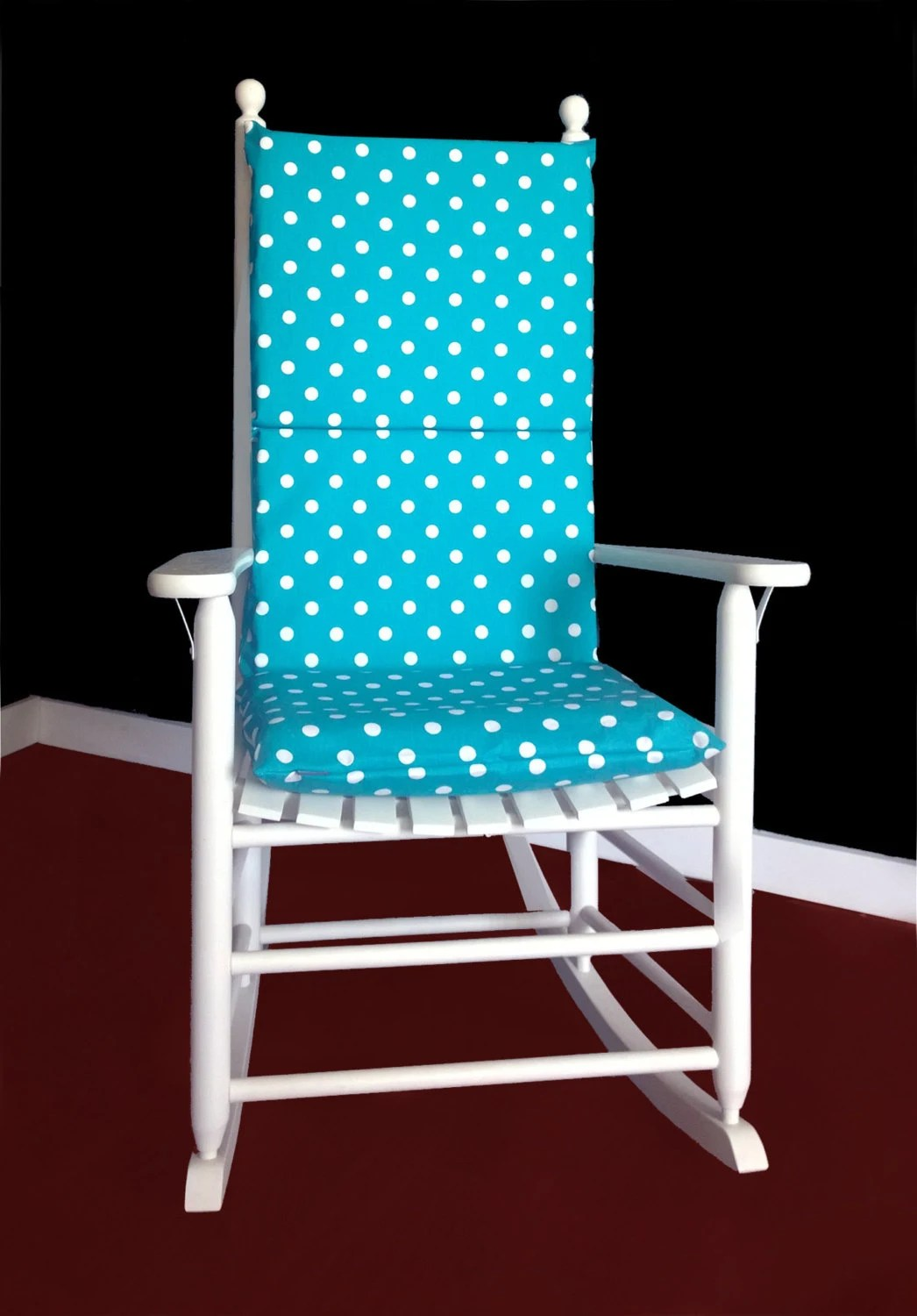 Pink Rocking Chair Cushions Rocking Chair Cushion Cover Turquoise White Polka Dot By
