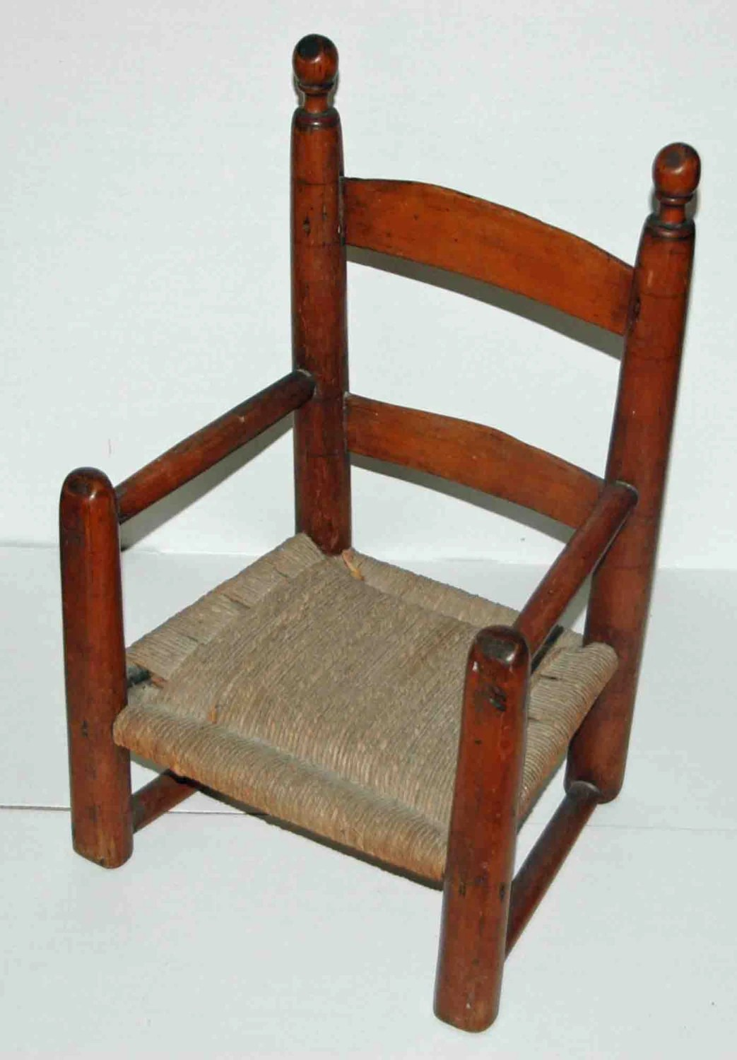 wicker ladder back chairs mainstays outdoor double rocking chair white seats 2 antique childs slat arm late 18th early