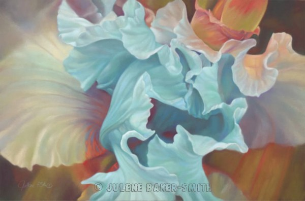 Romantic Art Iris Print Large Abstract Feminine