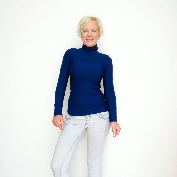 Navy Turtleneck Blue Sweater Top
