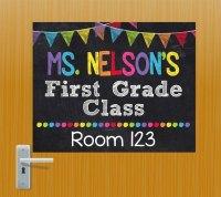 Teacher Door Sign Personalized Teacher Sign Classroom Door