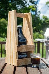 Beer Growler Carrier Beer Caddy Pallet Wood Growler Holder