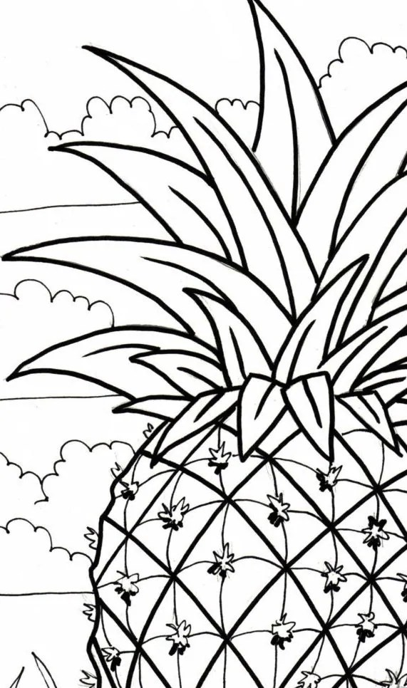 Drawn Palm Tree Coloring Page