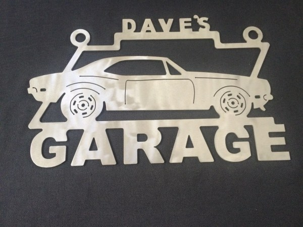 Camaro 1st Generation Metal Garage Sign Personalized Custom