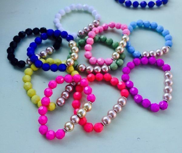 Childrens Bracelet Beaded Stretch Bracelet Kids Bracelet