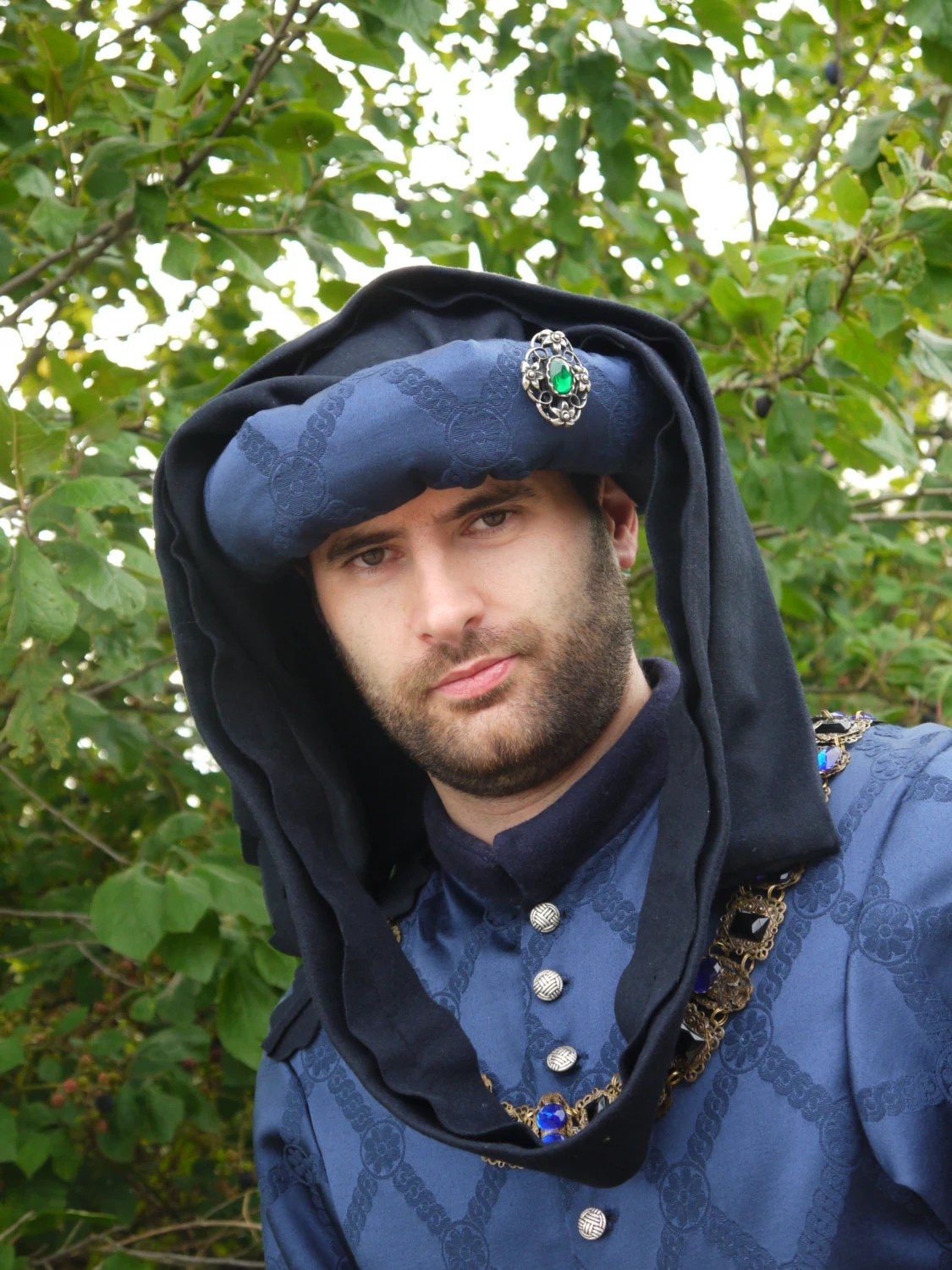Medieval Mens 15th century chaperon medieval clothing