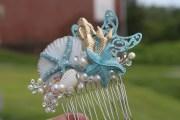 mermaid and starfish bridal hair