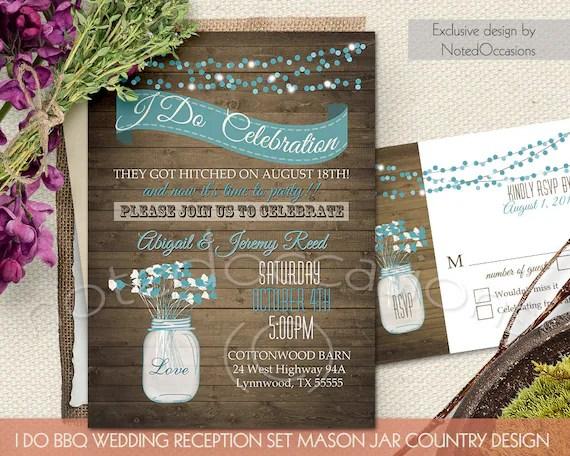 I Do BBQ Wedding Invitation Printable Wedding Invitations