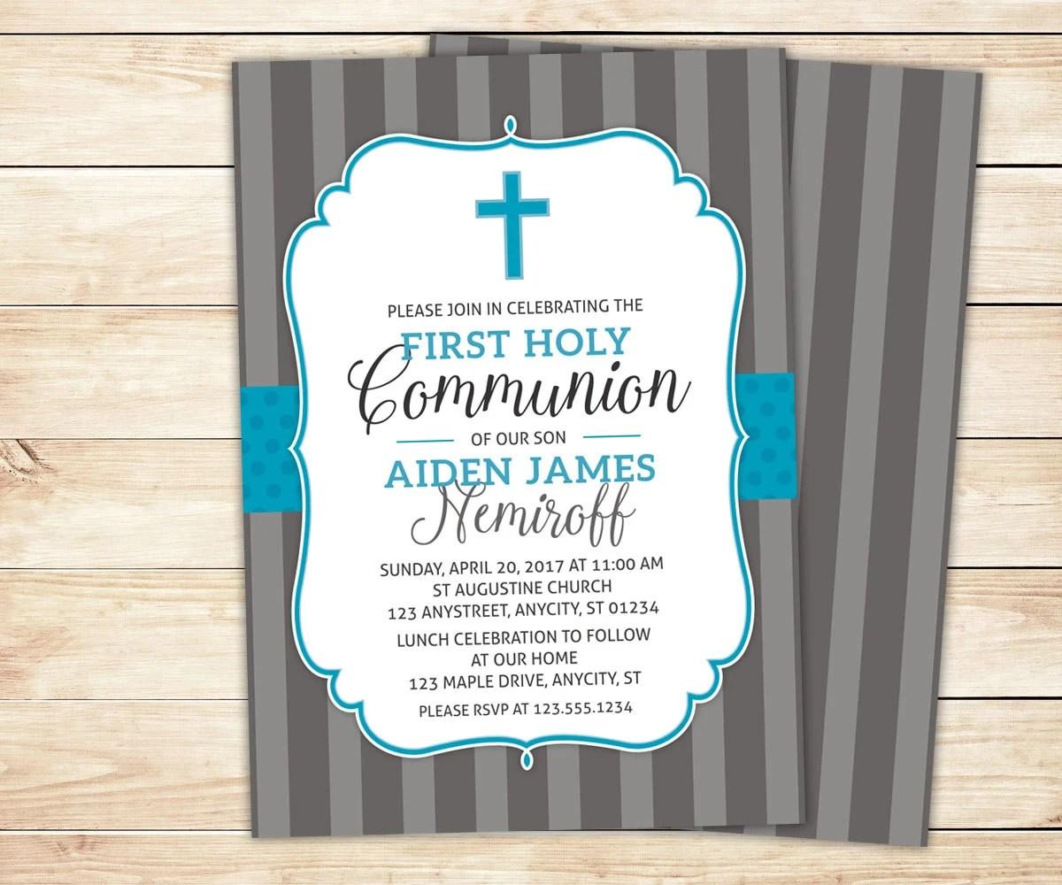 First Communion Invitation 1st Holy Communion Invite Baptism