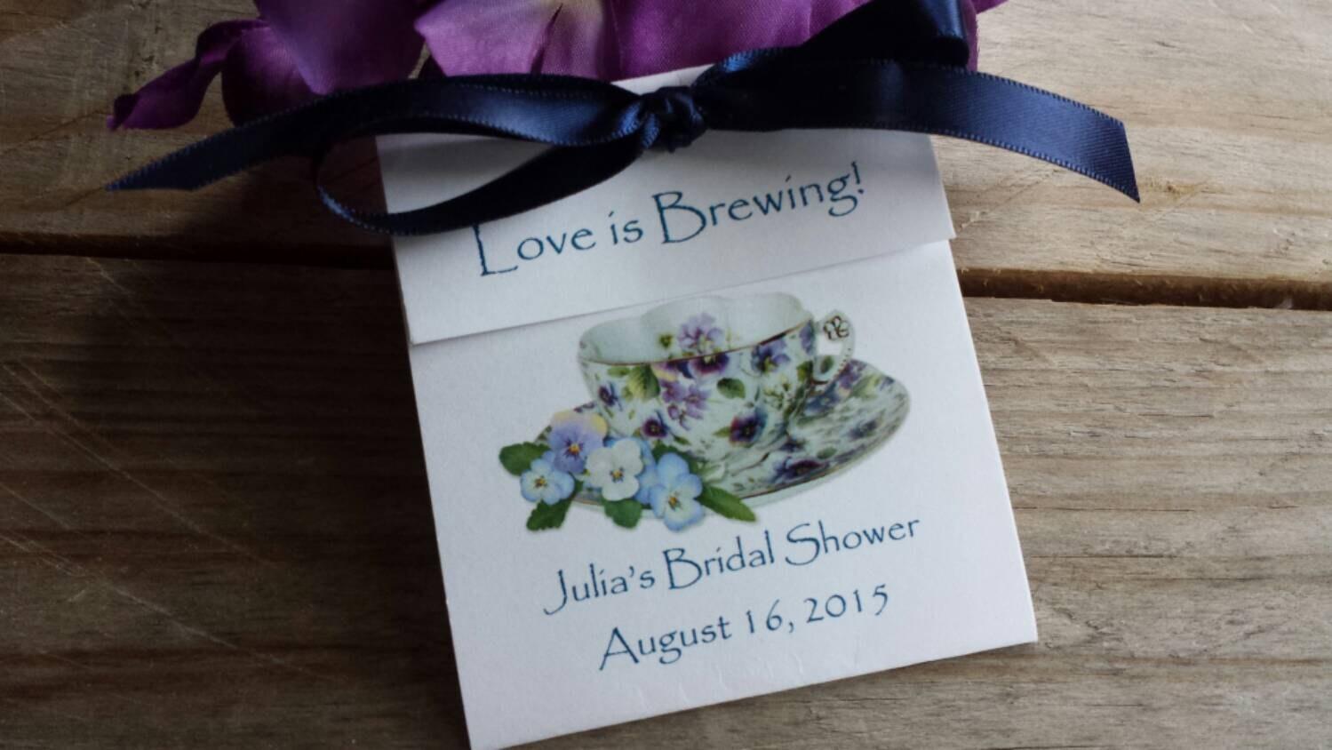 Viola Personalized Teacup Tea Bag Party Favors for Bridal