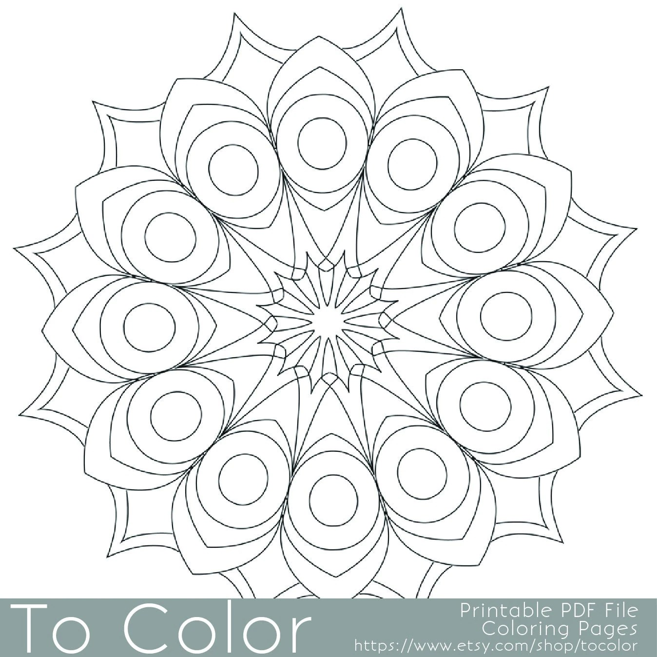 Printable Circular Mandala Easy Coloring Pages for Adults Big   free printable mandala coloring pages for adults easy