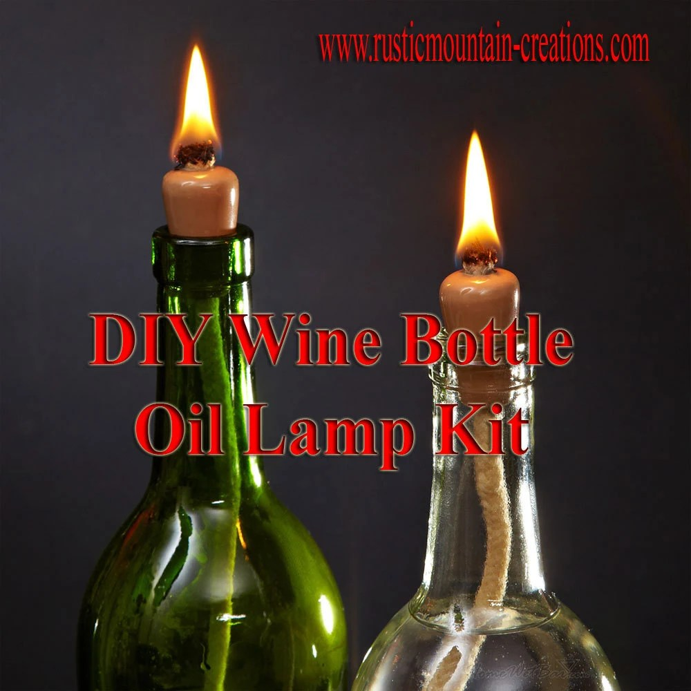 DIY Wine Bottle Candle Oil Lamp KIT turn wine by