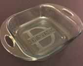 Monogram Etched Glass Bak...
