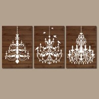 CHANDELIER Wall Art Canvas or Prints Wood Effect Wall Art