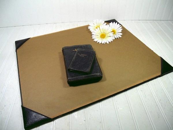 Black Leather Desk Blotter