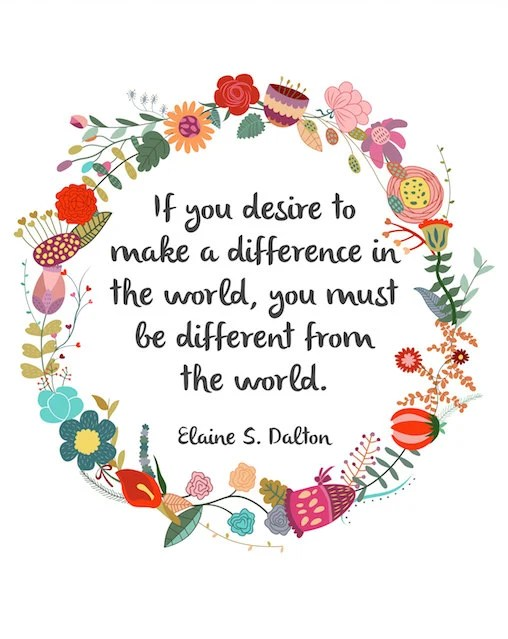 make difference in world