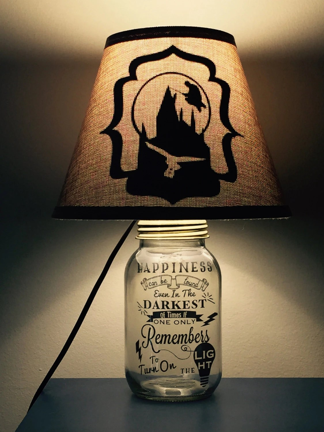 Harry Potter Inspired Mason Jar Lamp by PracPerfCrafts on Etsy