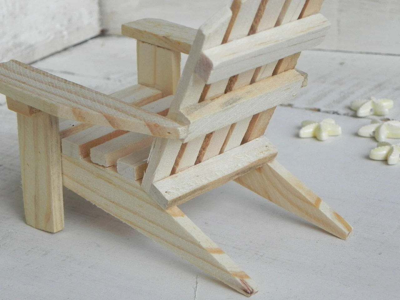 Mini Adirondack Chairs Adirondack Chair Miniature Ready To Paint Wood Supplies For
