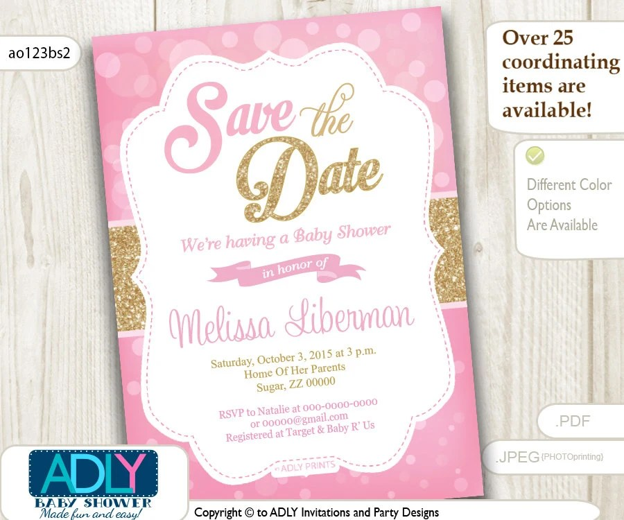Items similar to Save the Date Invitation for Baby Shower