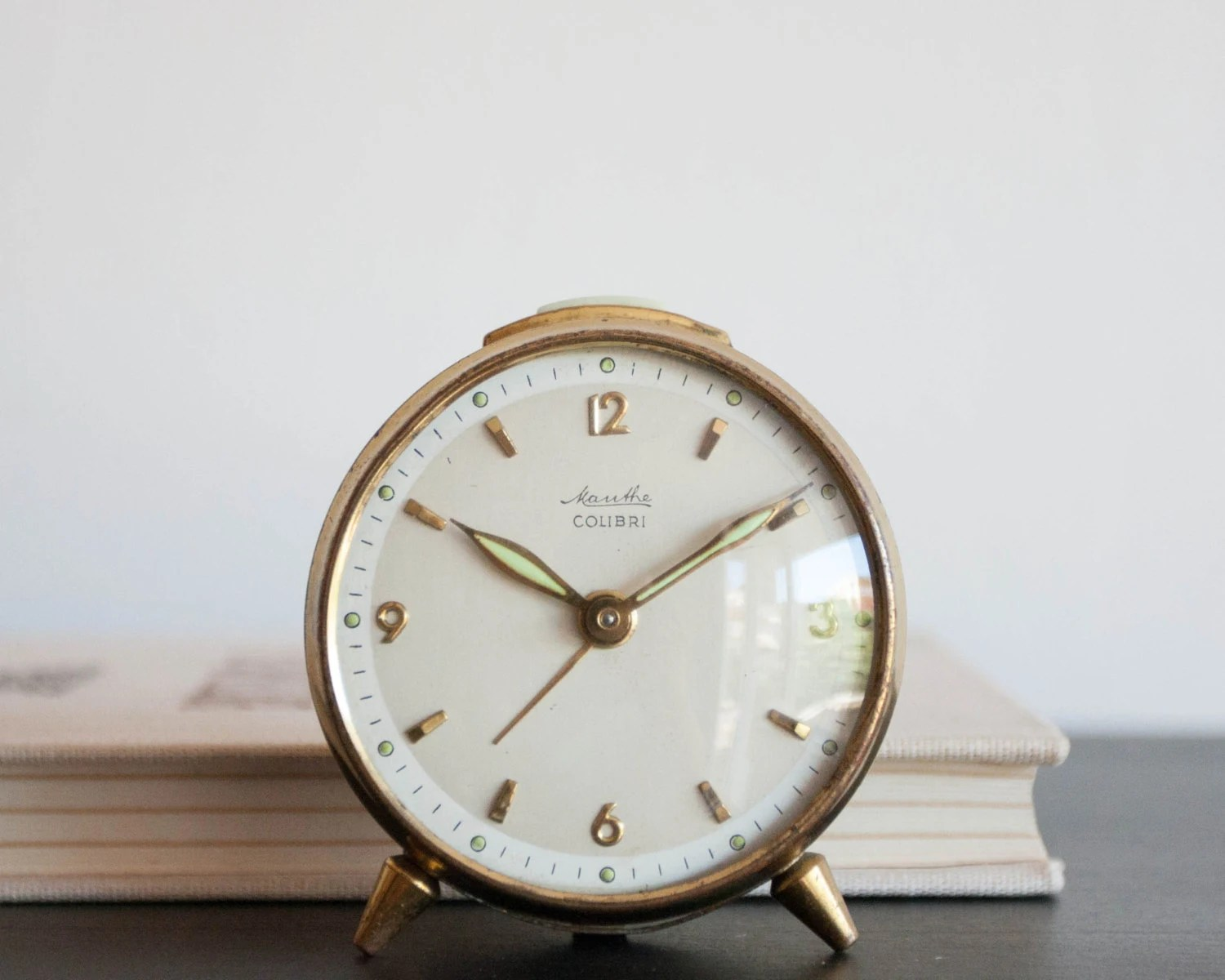 Vintage German Alarm Clock Small Desk Alarm by