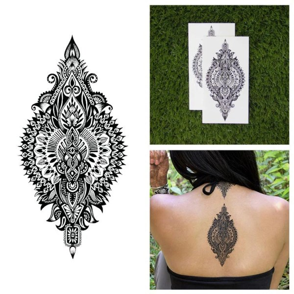 intricate detailed henna style
