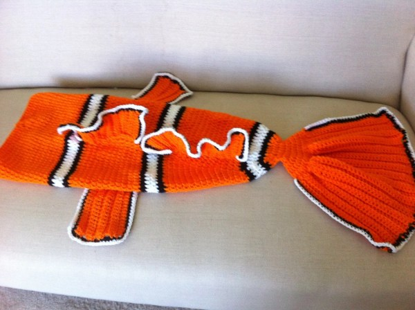 Finding Nemo Blanket Tail Cocoon Clown Fish Preemie